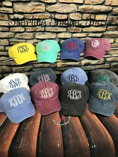 efb8cb65 Embroidered Hat Monogrammed Hat Distressed Hat Personalized Monogram Hats,  White Burgundy, Royal Red,