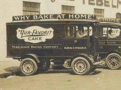 1925 Electric Delivery Trucks, Tebelmann Bakery, St. Louis Missouri