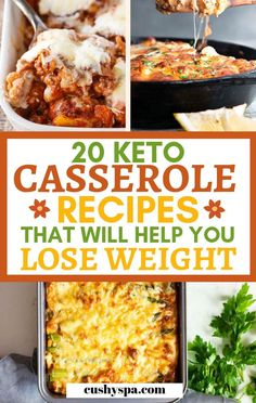 20 Easy Keto Casserole Recipes for Weight Loss Try these keto casseroles, I include both breakfast casseroles and lunch casseroles. A good casserole can do for a great ketogenic dinner too, so definitely try these easy ketogenic recipes. Keto Diet List, Starting Keto Diet, Diet Food List, Food Lists, Ketogenic Recipes, Diet Recipes, Healthy Recipes, Dessert Recipes, Breakfast Recipes