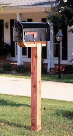 Learn how to install a mailbox post without concrete or digging a hole but still…