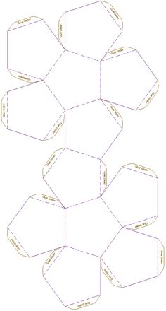 Dodecahedron  Model Template