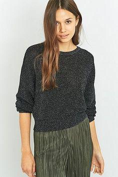 Sparkle & Fade – Weiter Pullover aus Lurex - Urban Outfitters