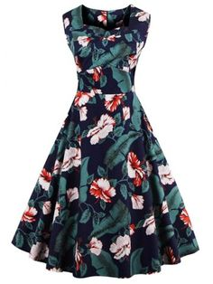 GET $50 NOW | Join RoseGal: Get YOUR $50 NOW!http://www.rosegal.com/plus-size-dresses/flower-plus-size-sleeveless-a-988389.html?seid=6677853rg988389