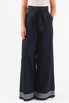 I <3 this High waist poplin palazzo pants from eShakti
