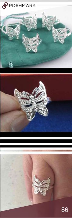 Butterfly ring Beautiful butterfly ring. Size 7 Jewelry Rings
