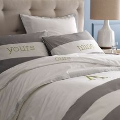 Cute couples bedding!