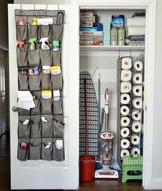 New Cleaning Closet Organisation Dollar Stores Shelves Ideas Small Apartment Organization, Organizing Your Home, Organization Hacks, Organizing Solutions, Organizing Ideas, Storage Solutions, Small Apartment Hacks, Closet Organisation, Small Apartment Decorating