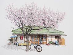 Me Kyeoung Lee dibujos tiendas corea del sur 7