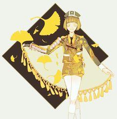 kai(@xsxk_07)さん | Twitter 『Maidenhair tree』前田藤四郎  #紅葉カラー刀剣男士企画