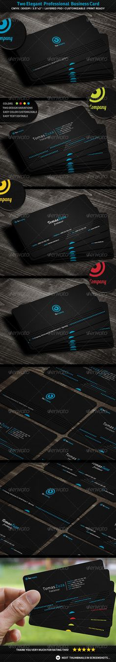 Elegant Professional Business Card GraphicRiver Simple And With