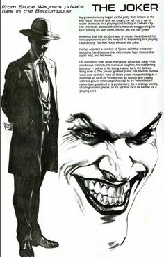 The Jokers file from the bat computer