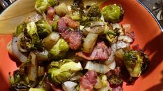 Roasted Brussel Sprouts with Bacon Recipe - This has to be good - it has bacon in it!