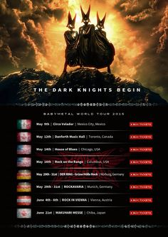 THE DARK KNIGHT BEGIN BABYMETAL WORLD TOUR 2015