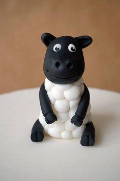Fondant sheep cake topper fondant farm animals handmade