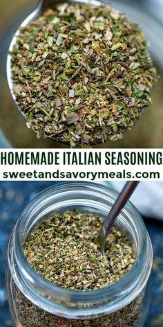 Homemade Italian Seasoning, Homemade Dry Mixes, Homemade Spice Blends, Homemade Spices, Homemade Seasonings, Spice Mixes, Sauces, Seasoning Mixes, Cooking Recipes