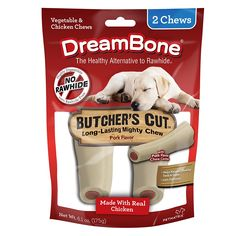 SmartBones 2 Count DreamBone Butcher's Cut Dog Chew, Large *** Awesome dog product. Click the image : Dog treats