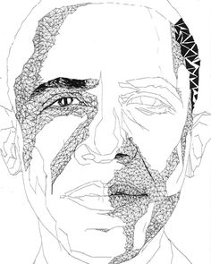 Title: CULTURAL MONOLITHS_OBAMA Part of a series of artworks that I created to explore the concept of cultural icons. This series features a number of African-American modern day icons. It serves to highlight the juxtaposition between these icons and the everyday African-American experience. On one side the icon is seen and validated culturally whilst on the other he/she is silent and statuesque... just another face in the everyday global black experience. #blacklivesmatter #obama #barack…