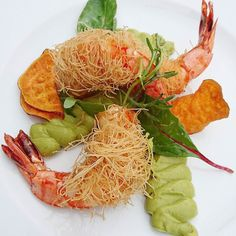 Croustillants..... #menubistronomique #gambas #gourmandcroquant #avocado #Food #Foodista #PornFood #Cuisine #Yummy #Cooking