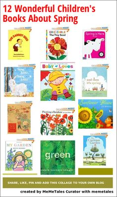 Collage Details - 12 Wonderful Children's Books About Spring