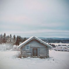 "Tuupovaara, Finland: This is an abandoned barn on top of a hill in eastern Finland. ""We were shooting music video front of this barn and it was -30 celsius outside."" – Janne Tarvonen"