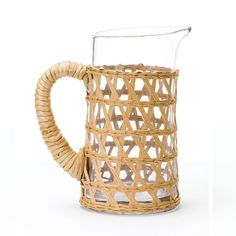 The island pitcher wrapped in raffia is perfect for any alfresco table and compliments our island glasses and carafe. Best Online Stores, Online Fashion Stores, Carafe, Glass Pitchers, Small Island, Hand Blown Glass, Etiquette, Or Rose, Tablescapes