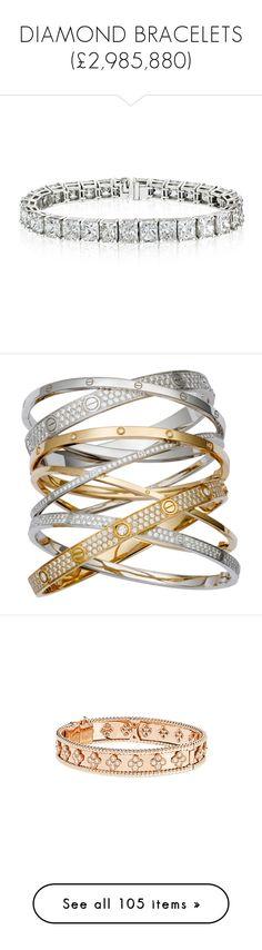 """DIAMOND BRACELETS (£2,985,880)"" by fendilicious ❤ liked on Polyvore featuring jewelry, bracelets, bratari, silver, platinum jewellery, diamond jewelry, chains jewelry, platinum jewelry, diamond jewellery and accessories"
