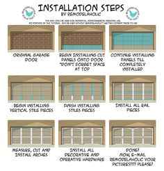 Ugly Garage Door Be-Gone! For our next house… - Cheap Garage Doors, Black Garage Doors, Diy Garage Door, Garage Door Makeover, Garage Door Design, Garage House, Diy Door, House Doors, Garage Ideas