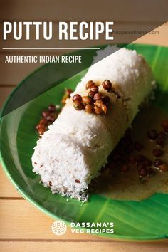 Puttu recipe with step by step pics. Puttu served with kadala kari is one of the most popular breakfast combination from Kerala. Puttu is basically a steamed rice flour and coconut log. The combination of soft puttu with kadala kari (black chickpeas curry) is awesome and you should taste it to know what I mean. Traditionally puttu was made in bamboo logs and this gave the puttu a lovely aroma. South Indian Vegetarian Recipes, Veg Recipes Of India, South Indian Food, Indian Food Recipes, Kerala Recipes, Milk Recipes, Curry Recipes, Cooking Recipes, Puttu Recipe