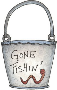 Gone fishing worm bucket painted rock idea Decoupage, Baby Fish, Clip Art Pictures, Cute Clipart, Gone Fishing, Applique Patterns, Quilt Patterns, Fish Art, Digi Stamps