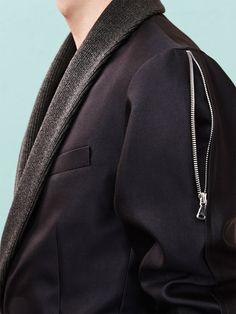 Sean Suen Showcases Modern Proportions for Fall 2014 image Sean Suen Fall Winter 2014 Collection 038 Tactical Clothing, Fashion Details, Fashion Design, Inspiration Mode, Fall Winter 2014, Sport Wear, Refashion, Blazer, Casual