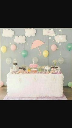 23 Ideas For Baby Shower Temas Nubes - Baby Shower! 23 Ideas For Baby Shower Temas Nubes 23 Ideas For Baby Shower Temas Nubes Diy Party Decorations, Birthday Decorations, Baby Party, Baby Shower Parties, Baby Boy Shower, Baby Shower Gifts, Baby Birthday, Birthday Parties, Cloud Party