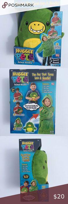 Huggle Pets Dinosaur Hoodie Nib In 2020 Dinosaur Stuffed Animal Dinosaur Pets