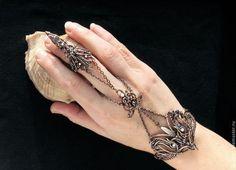 """Браслет - слейв """"Власть магии"""" - браслет с цепочкой,браслет натуральные камни"""