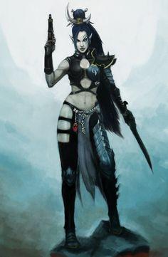 cheekimebreeki: Dark Eldar: Shyntafae by Beckjann