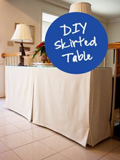 Very Fond Of: DIY Skirted Entry Table