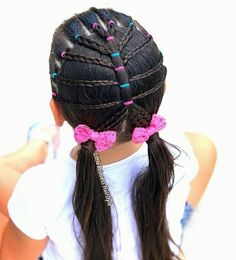little-girl-hairstyles - Fab New Hairstyle 1 Lil Girl Hairstyles, Cool Braid Hairstyles, Princess Hairstyles, Girl Haircuts, Short Haircuts, New Haircut For Girl, Hair Patterns, Pin Up Hair, Cool Braids