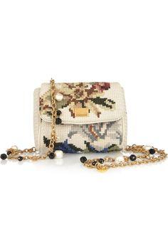 Dolce  Gabbana|Little Miss Charles tapestry shoulder bag|NET-A-PORTER.COM