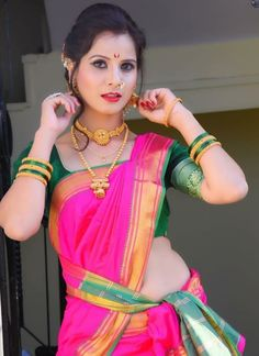 Marathi Nath, Marathi Bride, Marathi Wedding, Saree Navel, Bride Look, Makeup Looks, Sari, Culture, Instagram
