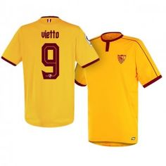 Sevilla FC Third 16-17 Season Yellow #9 Vietto Soccer Jersey [I244]