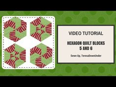 Video tutorial: Hexagon blocks 5 and 6 made with equilateral triangles - YouTube