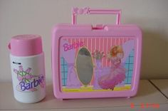 1990 Collectible Hologen Mattel Barbie Lunchbox & Thermos by jane65