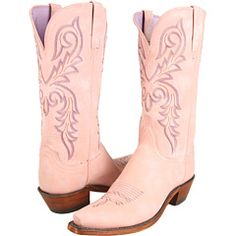 Rose pink cowboy boots? I could see these on a very feminine cowgirl.
