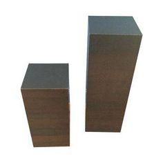 Mid-Century Black Cube Pedestals - Pair