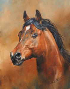 Horse painting by David Stribbling