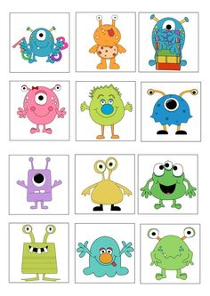 loto des monstres planche 1 ( usage personnel uniquement) More Source by brandy_whitley Monster Party, Cute Monsters, Little Monsters, Monster Theme Classroom, Doodle Monster, Monster Crafts, Doodle Art, Baby Quilts, Halloween Crafts