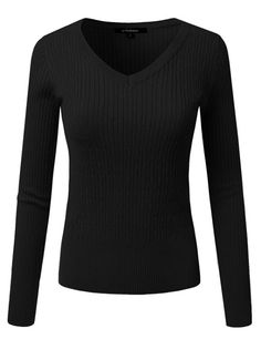 0e8a10199c JJ Perfection Women s Long Sleeve V-Neck Cable Knit Classic Sweater at  Amazon Women s Clothing store