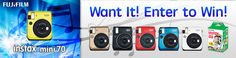 Enter for a chance to win (1) of (10) Instax Mini 70 Instant Cameras and Film!