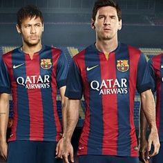 Messi and Neymar  Fc Barcelona new kit