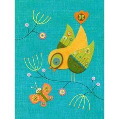 Oopsy Daisy - Chirping Conversation Canvas Wall Art 18x24, Linda Solovic