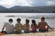 Children on the beach at Fish Creek Pond Campground - NYSDEC Campgrounds